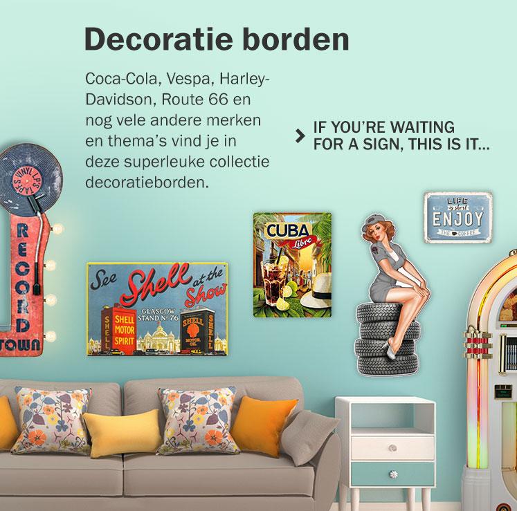 Decoratie Borden