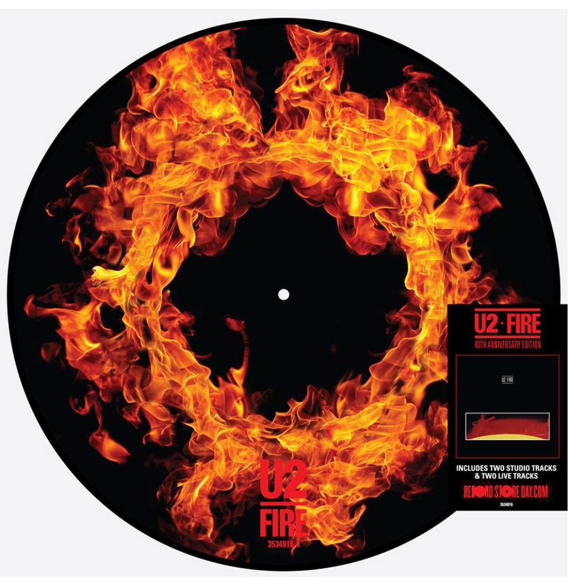 U2 - Fire 40th Anniversary Picture Disc LP (Record Store Day 2021 Vinyl)