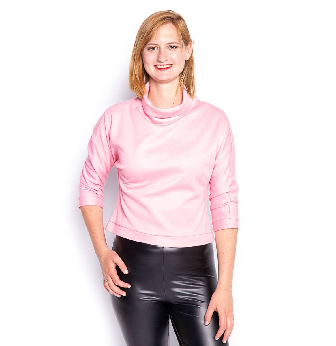 Vintage Col Top Pink - L