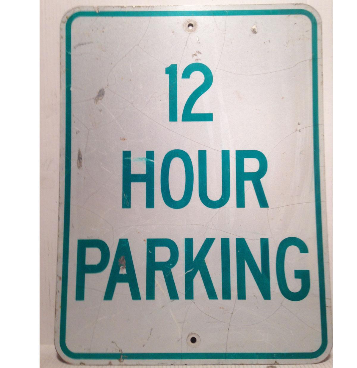 12 Hour Parking Straat Bord - Origineel