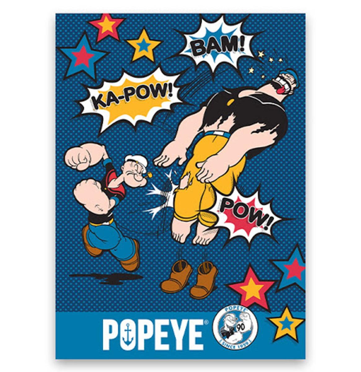 Popeye Metalen Bord Met Reliëf - 43 x 31 cm