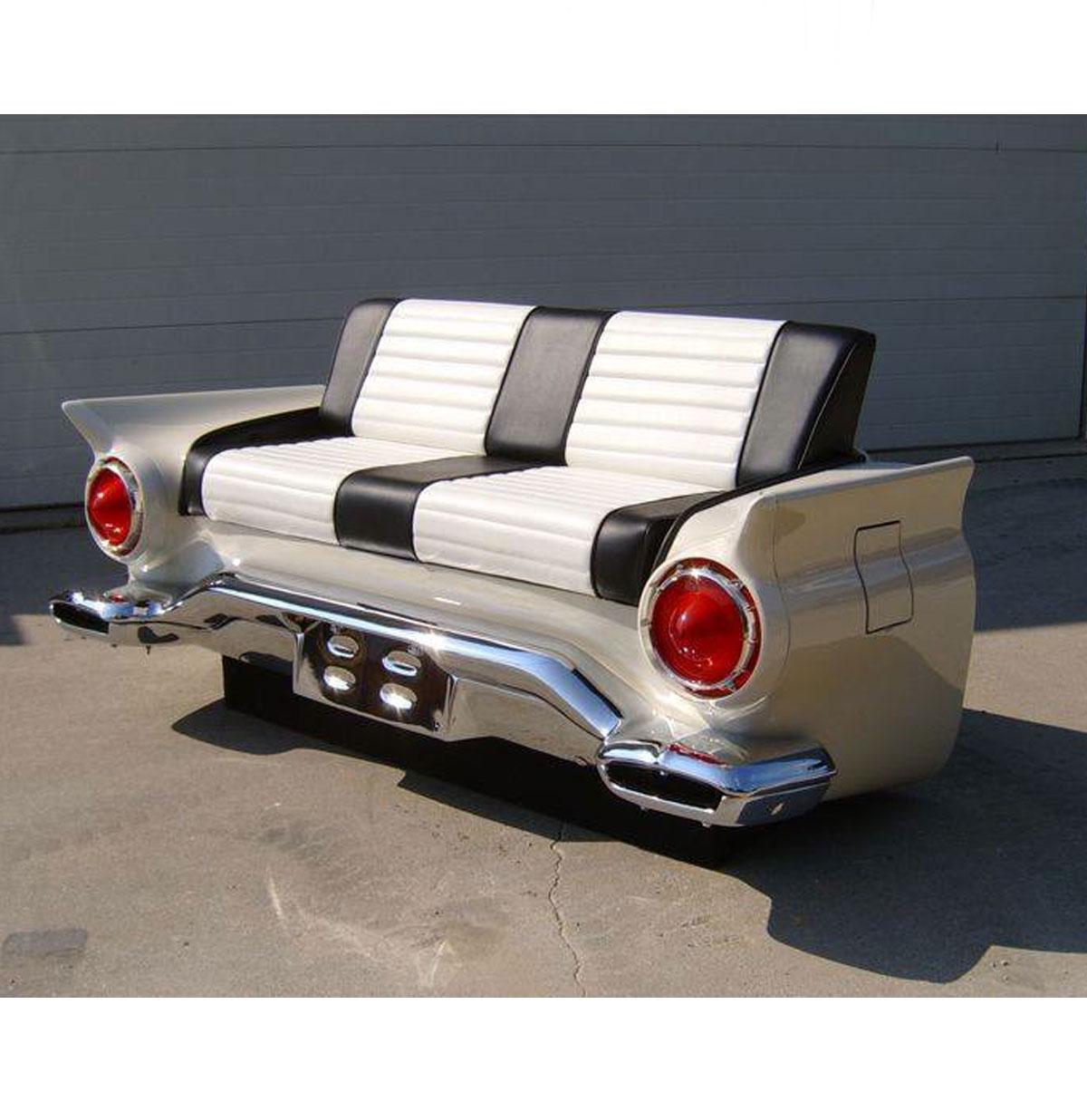 1950's Auto Bank - Van een echte auto