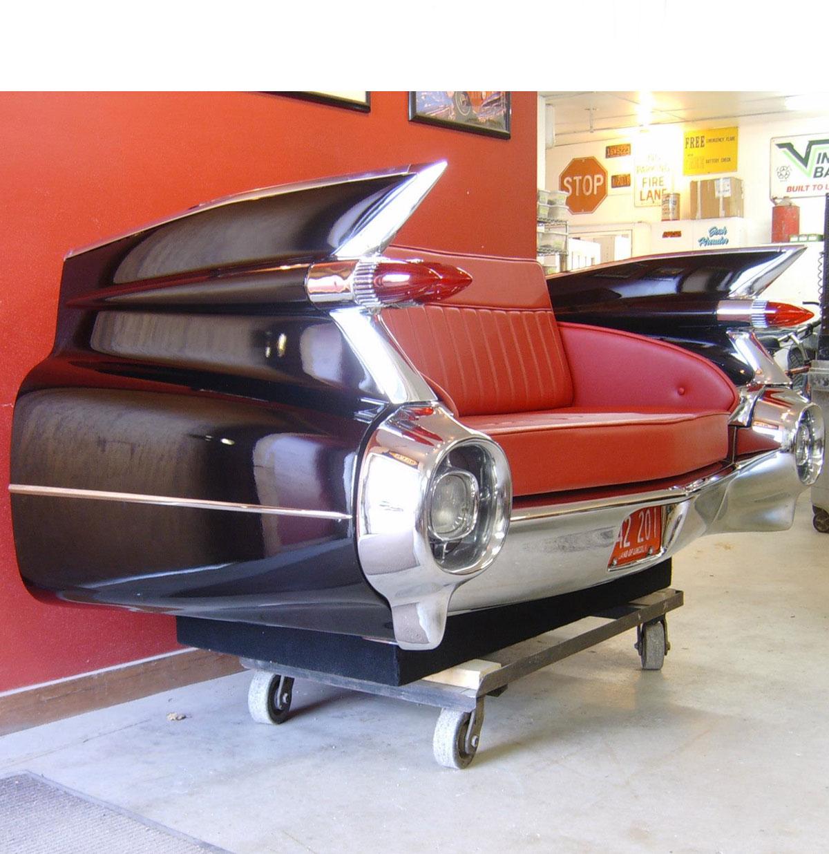 1959 Cadillac Bank Zwart - Van een echte auto