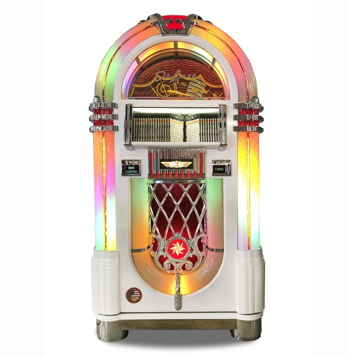 Rock-Ola Bubbler CD Jukebox - Glanzend Wit