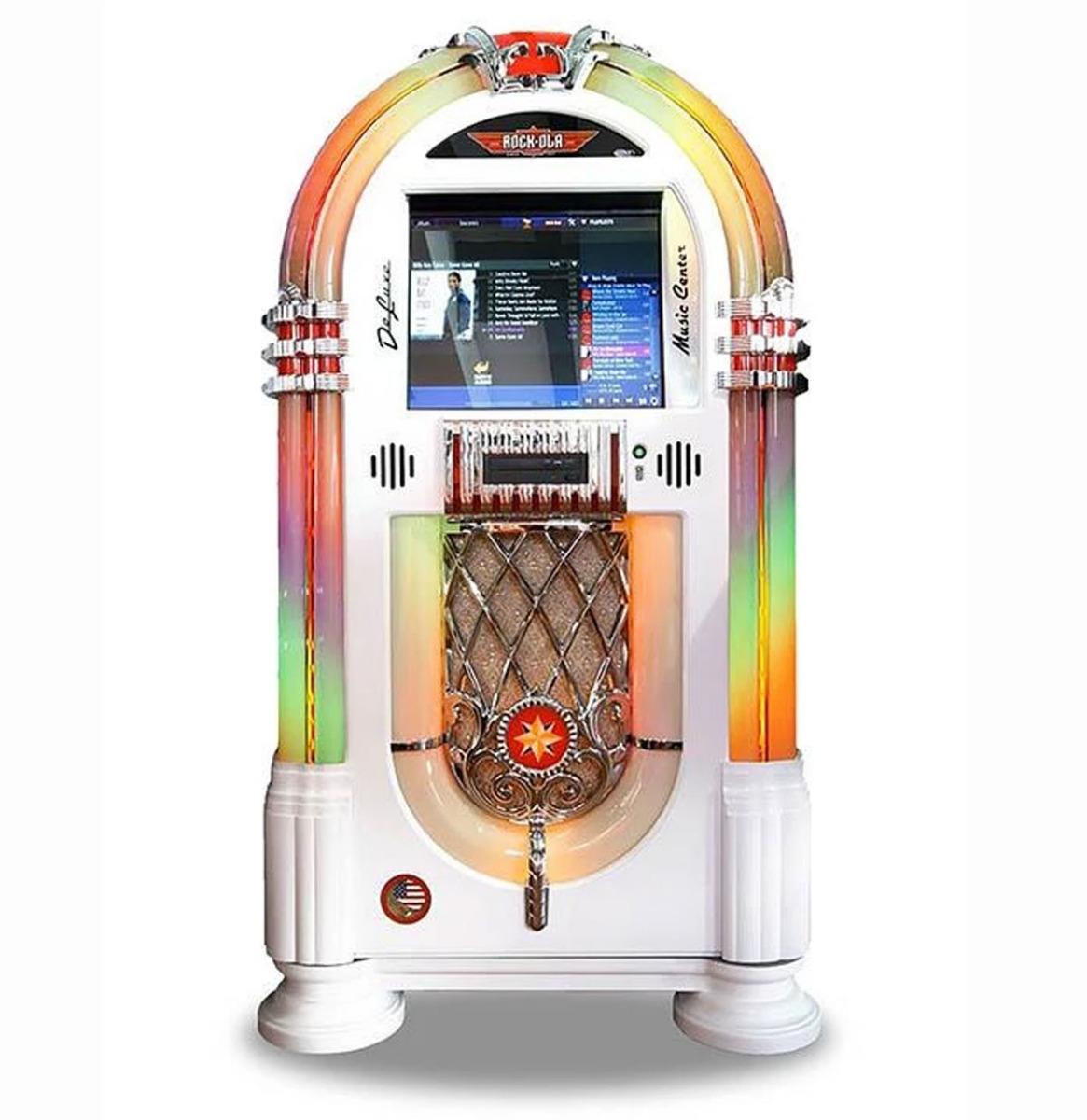 Rock-Ola Bubbler Digital Music Center Jukebox - Glanzend Wit
