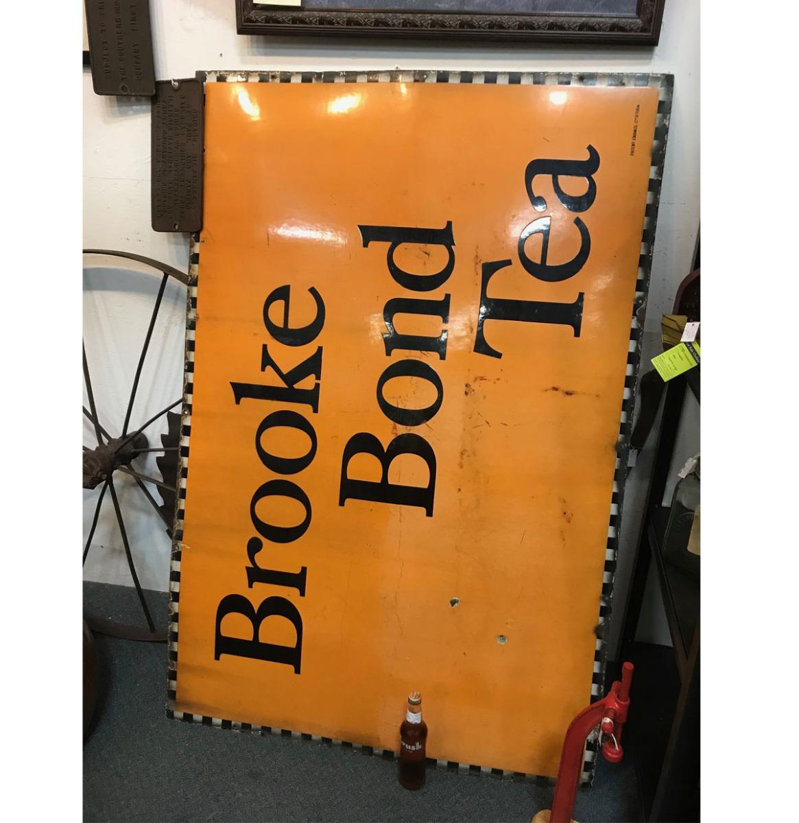 Brooke Bond Tea Emaille Bord - Groot