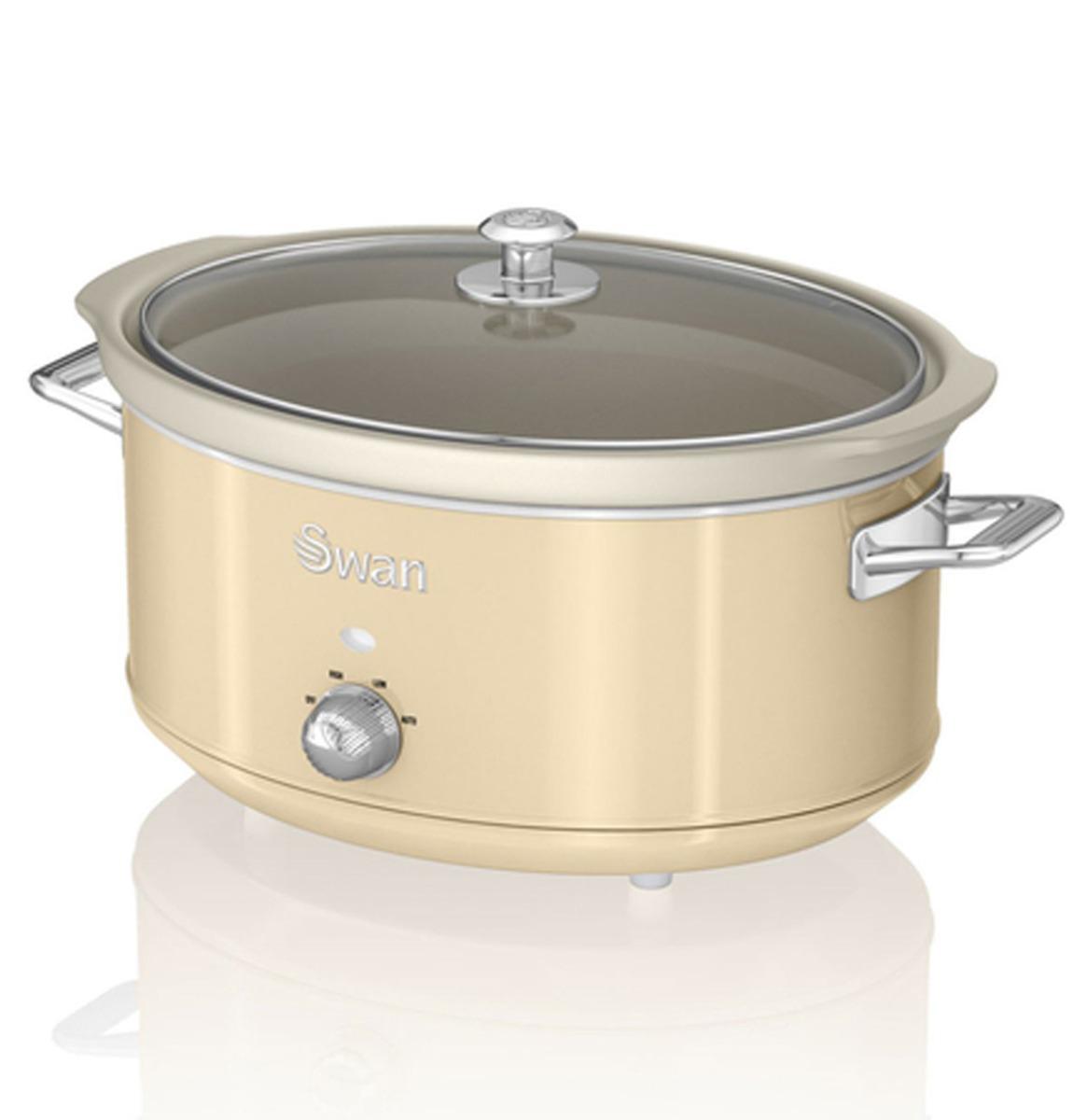 Swan Retro Slow Cooker - 6.5 Liter - Crème