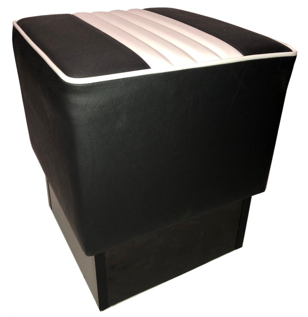 Checkers Poef - Zwart