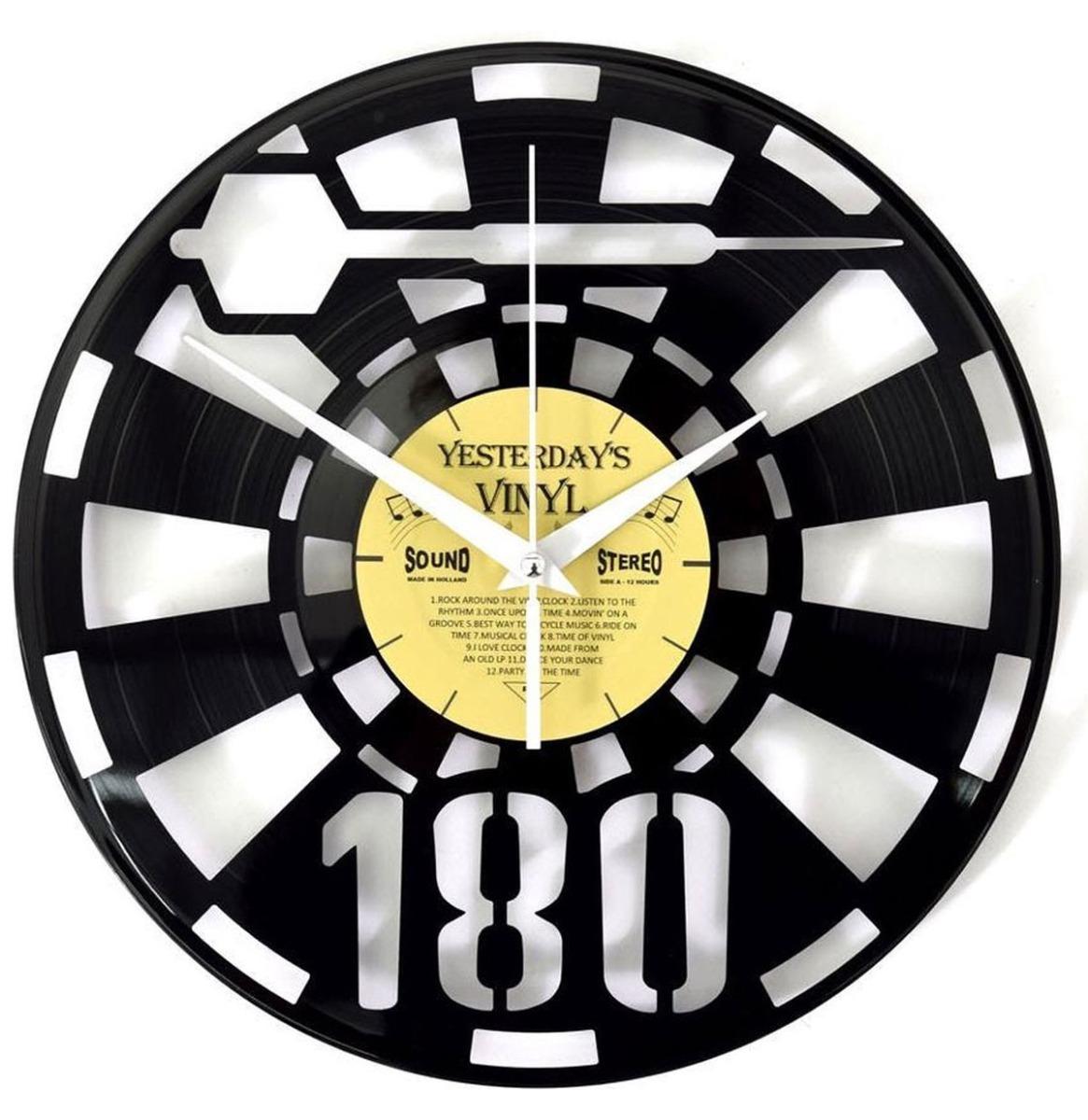 Vinyl Klok Darten - Gemaakt Van Een Gerecyclede Plaat