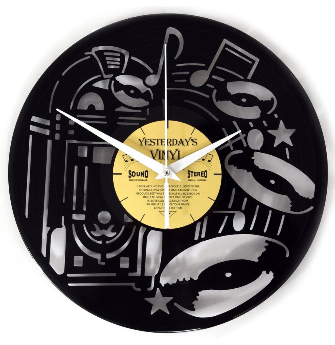 Vinyl Klok Jukebox - Gemaakt Van Een Gerecyclede Plaat