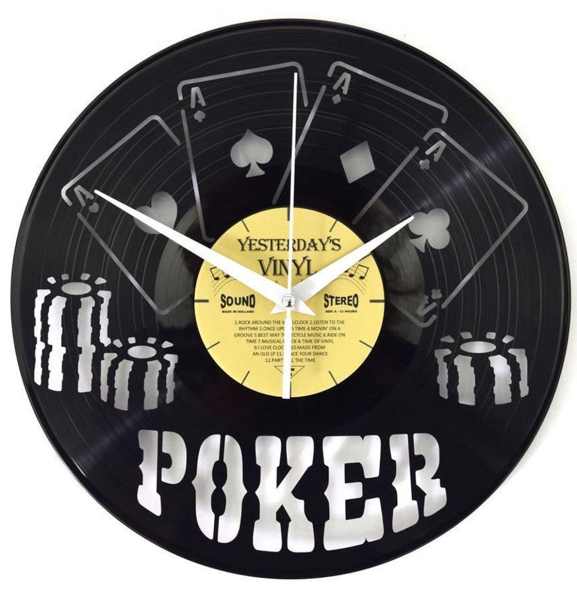 Vinyl Klok Poker - Gemaakt Van Een Gerecyclede Plaat