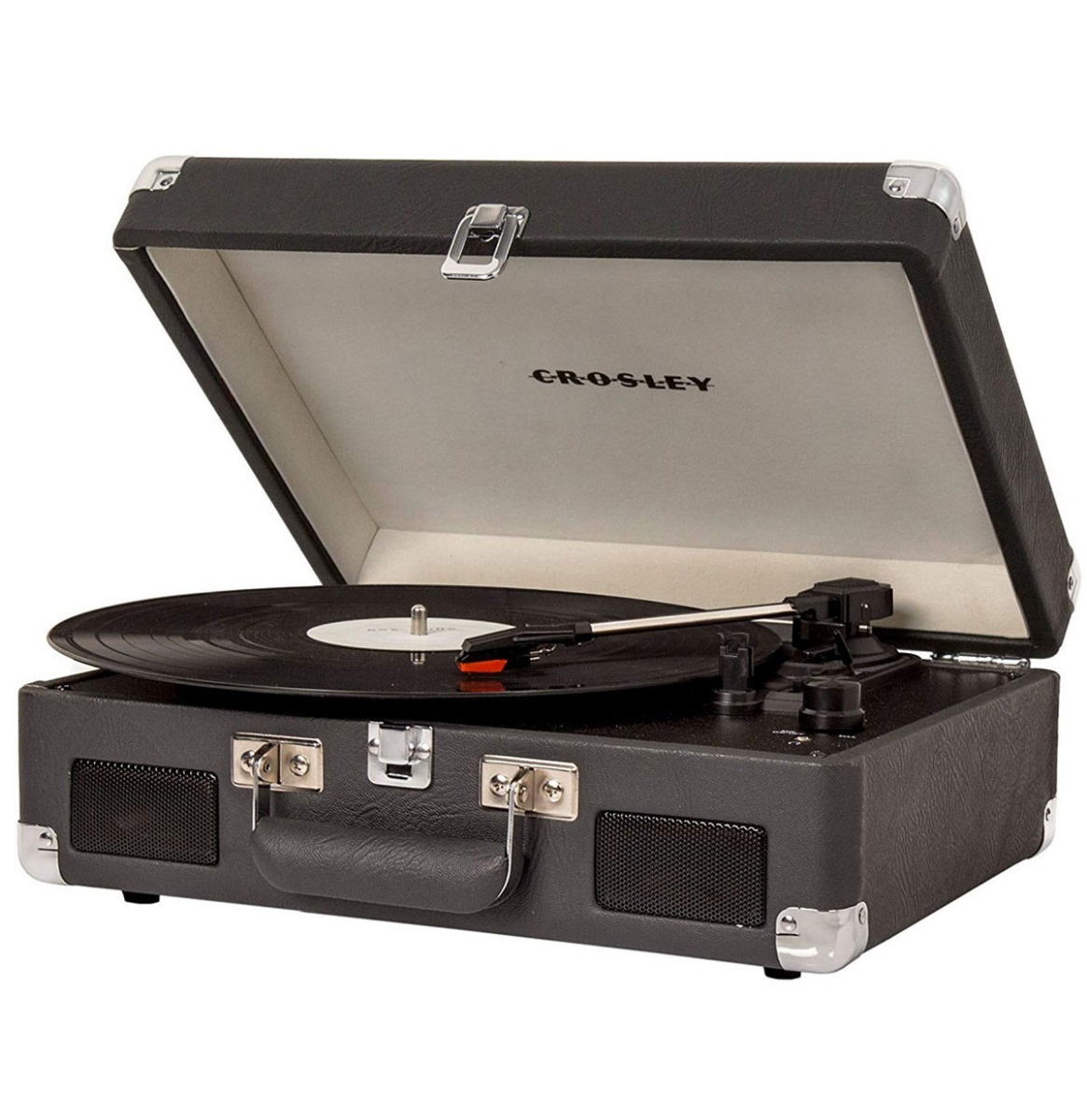 Crosley Cruiser II Portable Retro Platenspeler - Carbon Charcoal