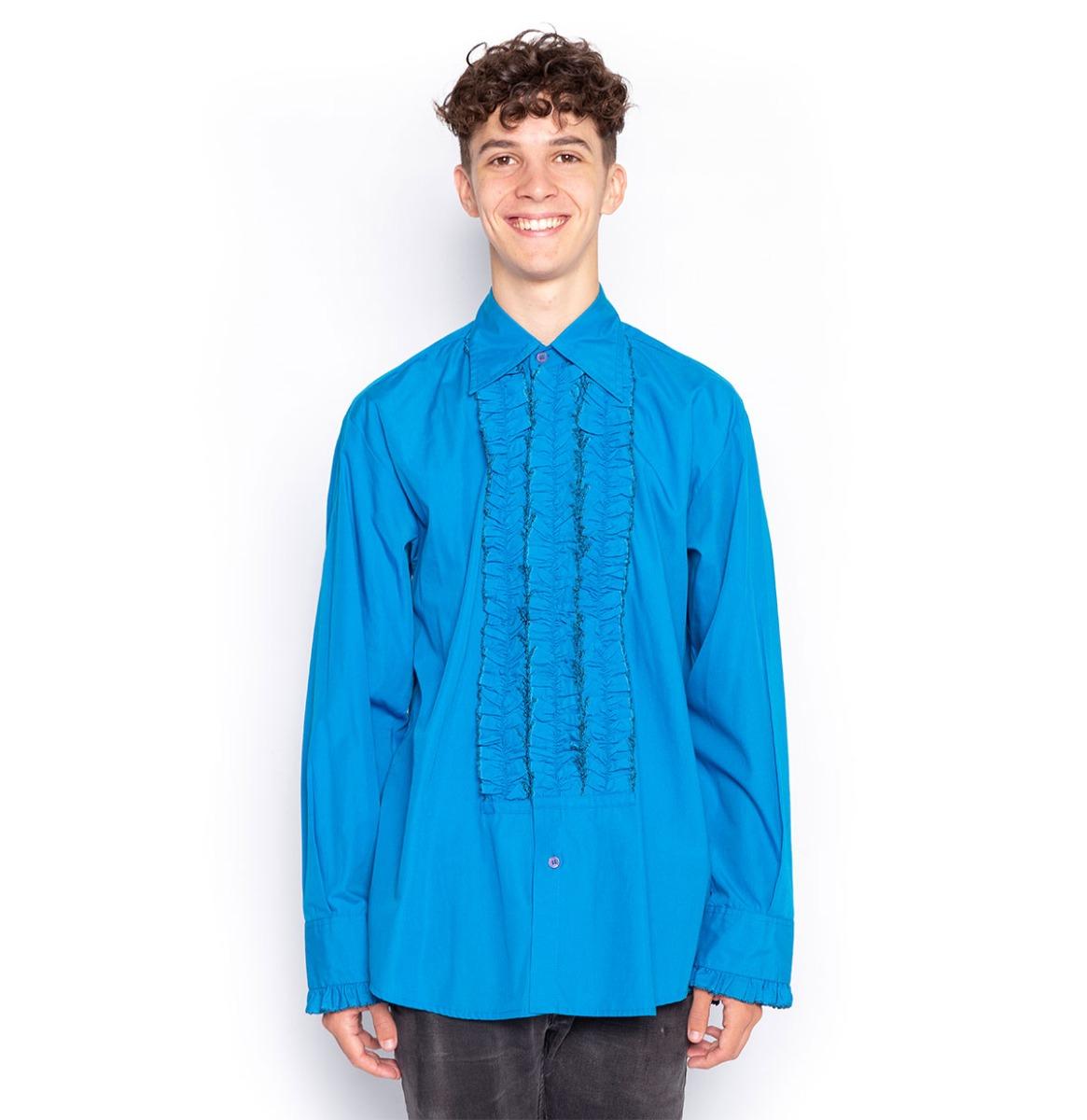 Blauw Ruffles Shirt