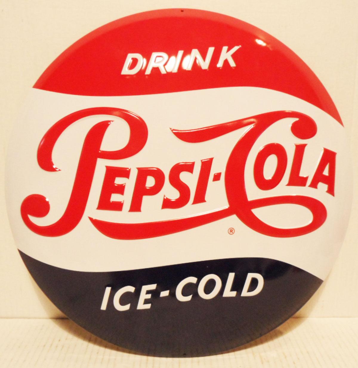 Drink Pepsi-Cola round Button Metalen Bord