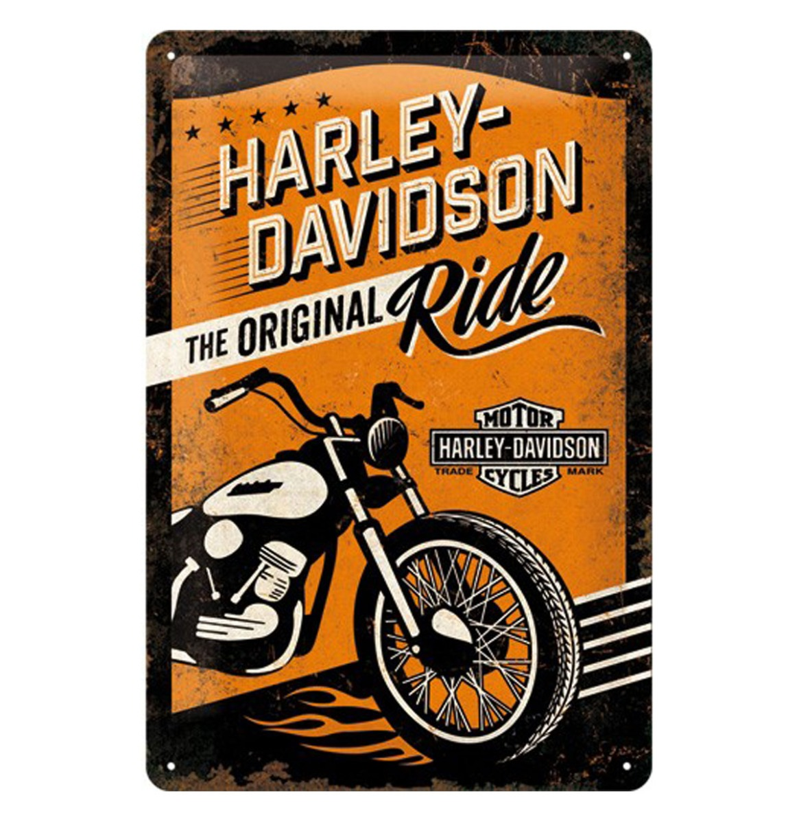 Harley-Davidson Metalen Bord Original Ride 20 x 30 cm
