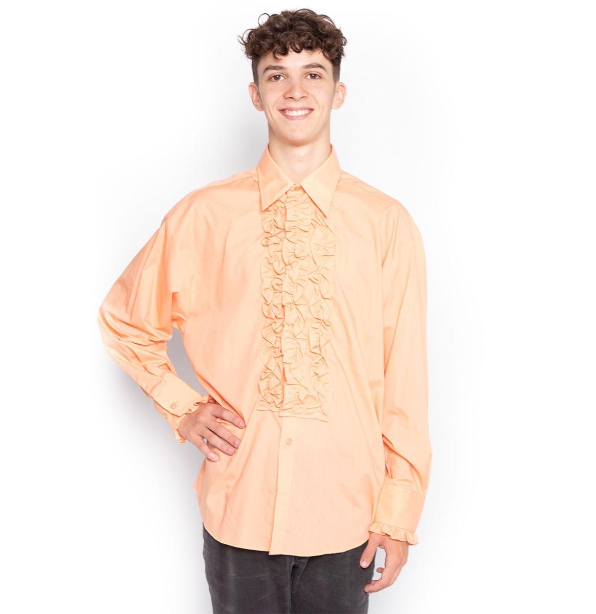 Retro Ruffled Shirt Zalm