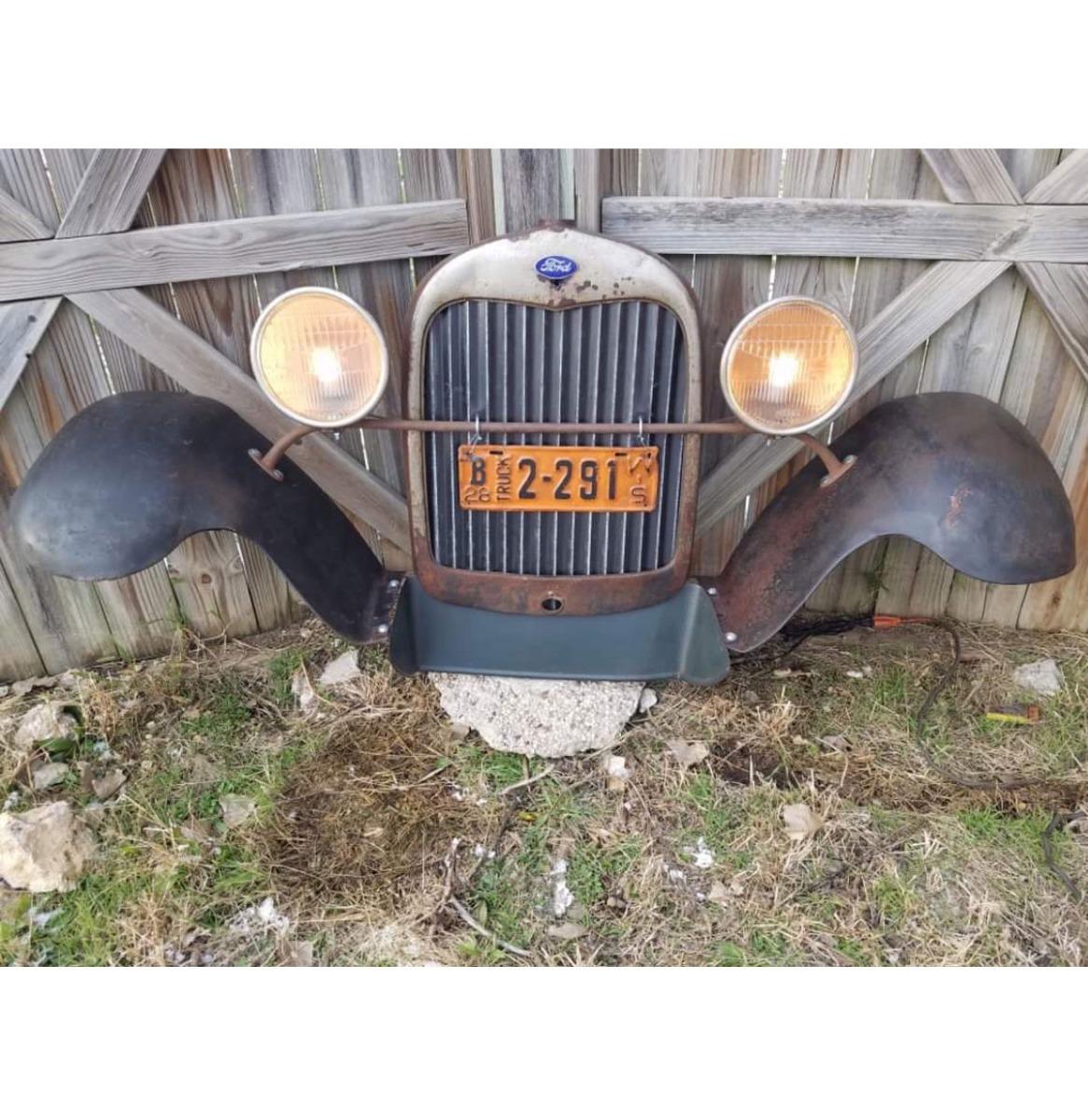 Ford Model A Grill En Zijbumpers - Origineel (3)