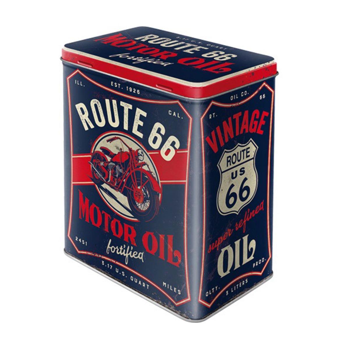 Tinnen blik Route 66 Motor Oil