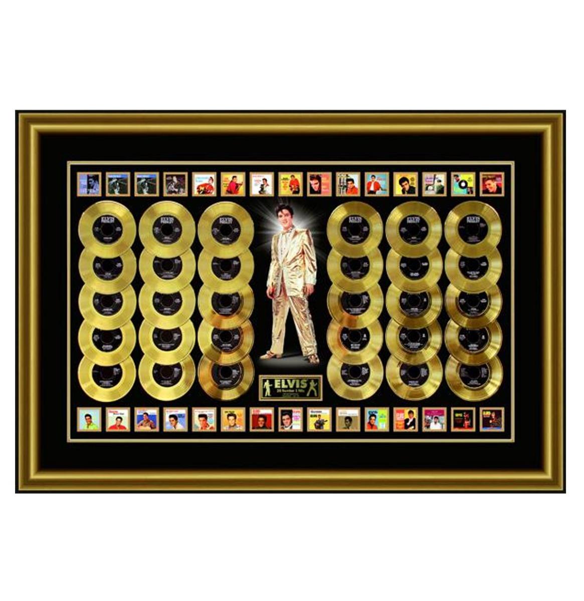 Elvis Presley - 30 Gouden Platen (45) Van Zijn Nummer 1 Hits 24KT Gelimiteerde Oplage van 100