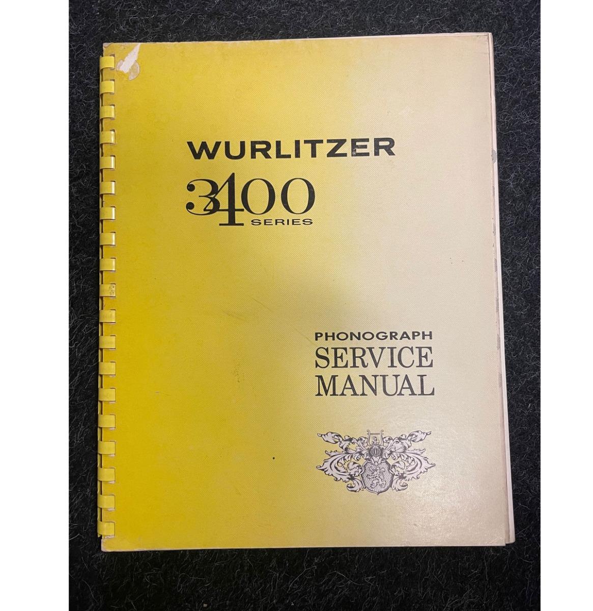 Wurlitzer 3400 manual original