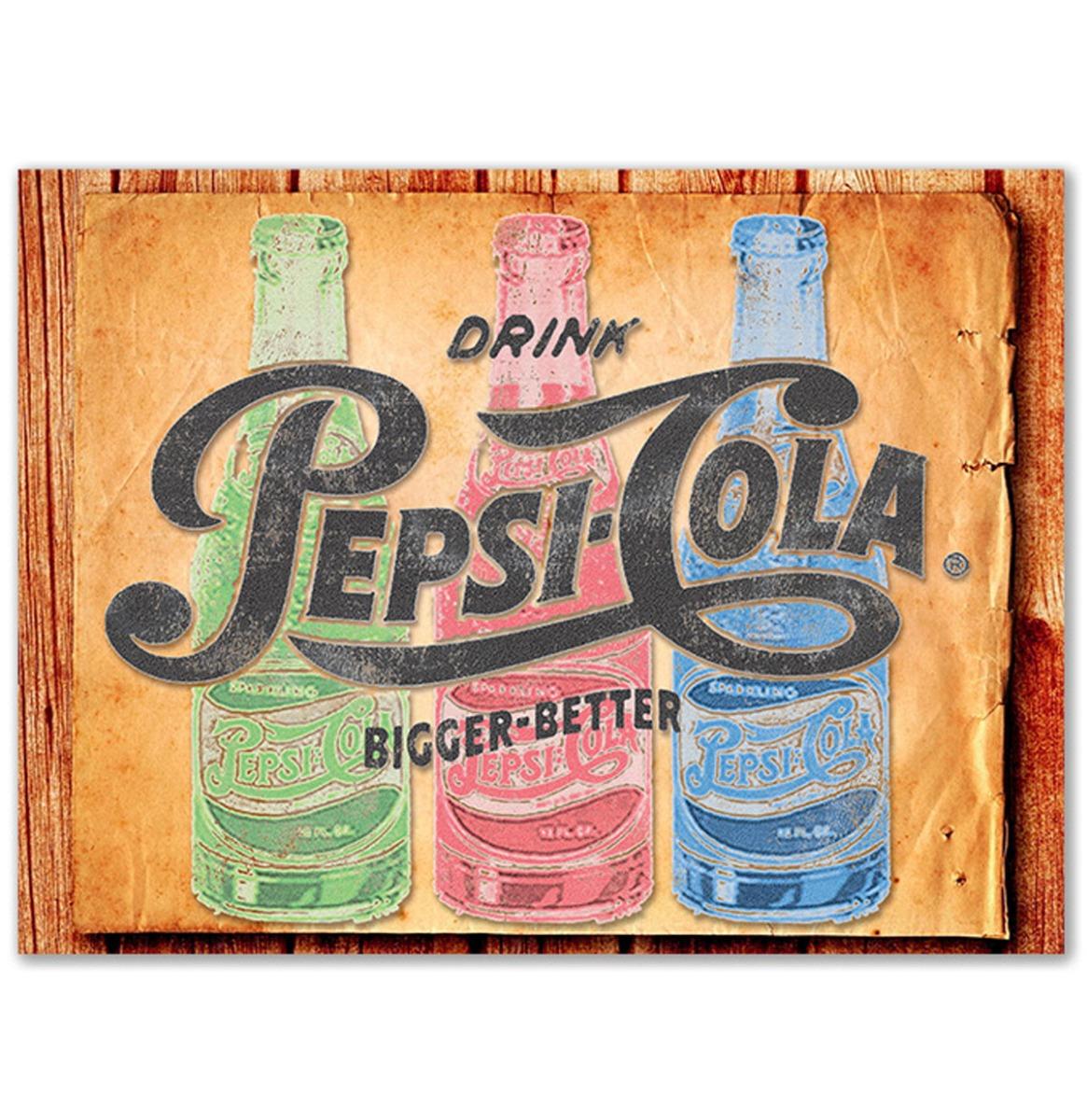 Pepsi-Cola Bigger And Better 3 Bottles Glazen Snijplank - 40 x 30 cm