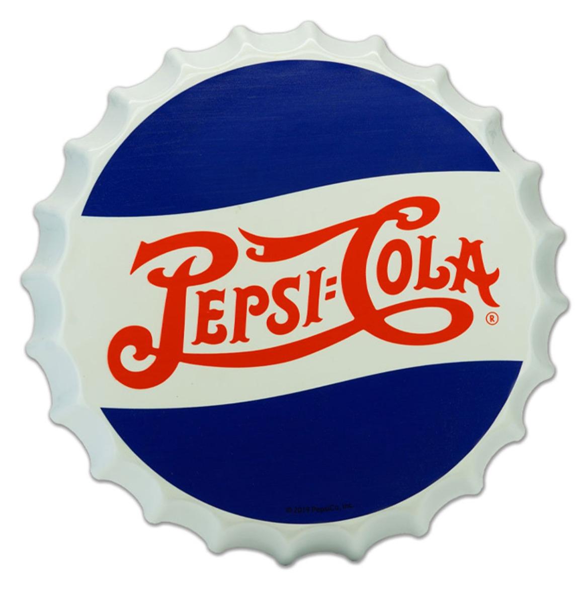 Tinnen Pepsi-Cola Flessendop Bord - 35 cm ø