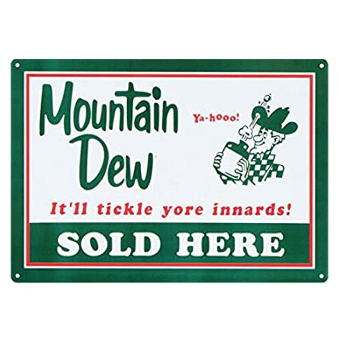 Mountain Dew Sold Here Metalen Bord Met Reliëf - 43 x 31 cm