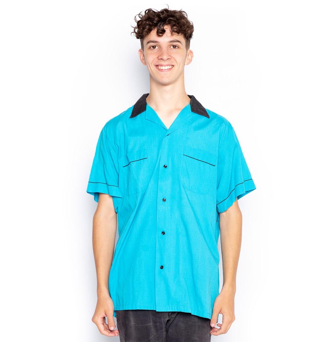 Ex Rental Flamingo Bowling Shirt