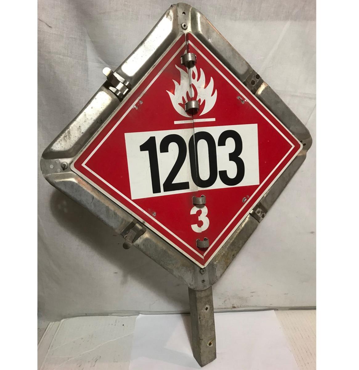 Truck Hazardous Metalen Straatbord - Origineel