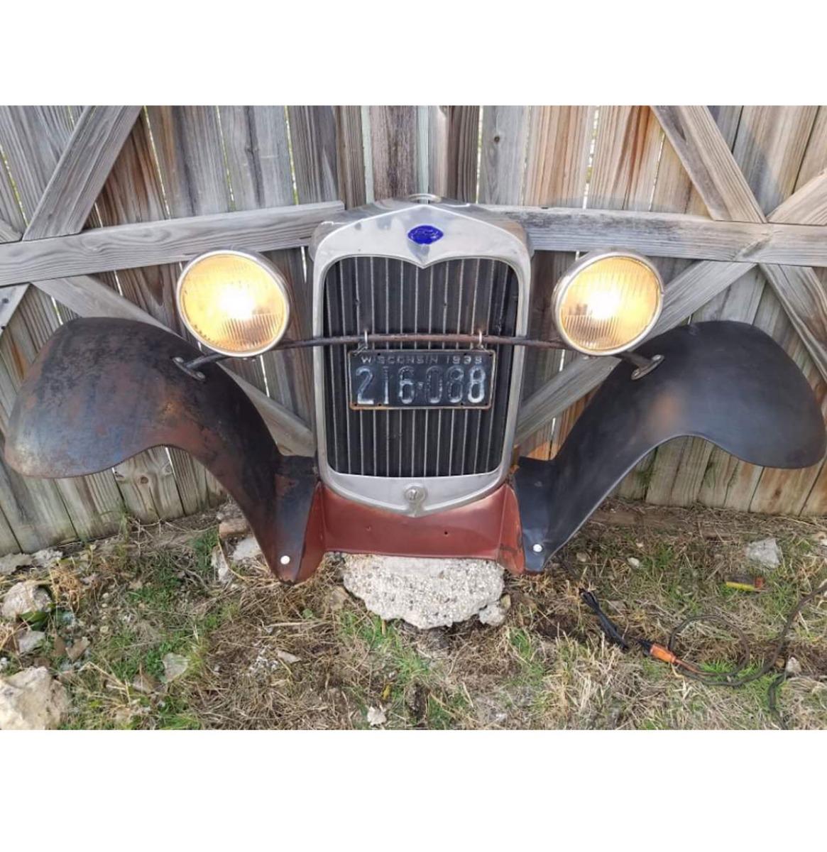 Ford Model A Grill En Zijbumpers - Origineel (4)