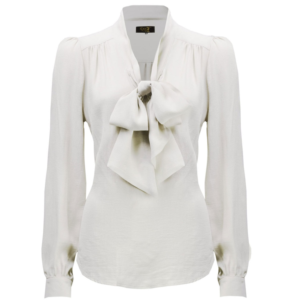 House Of Foxy 40's Pussy Bow Strik Blouse Ivoor