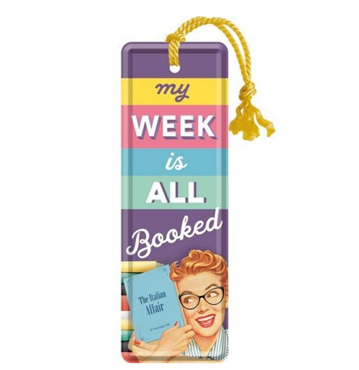 fiftiesstore Boekenlegger My Week Is All Booked