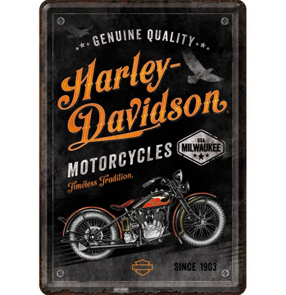 Metalen Postkaart Harley-Davidson - Timeless Tradition