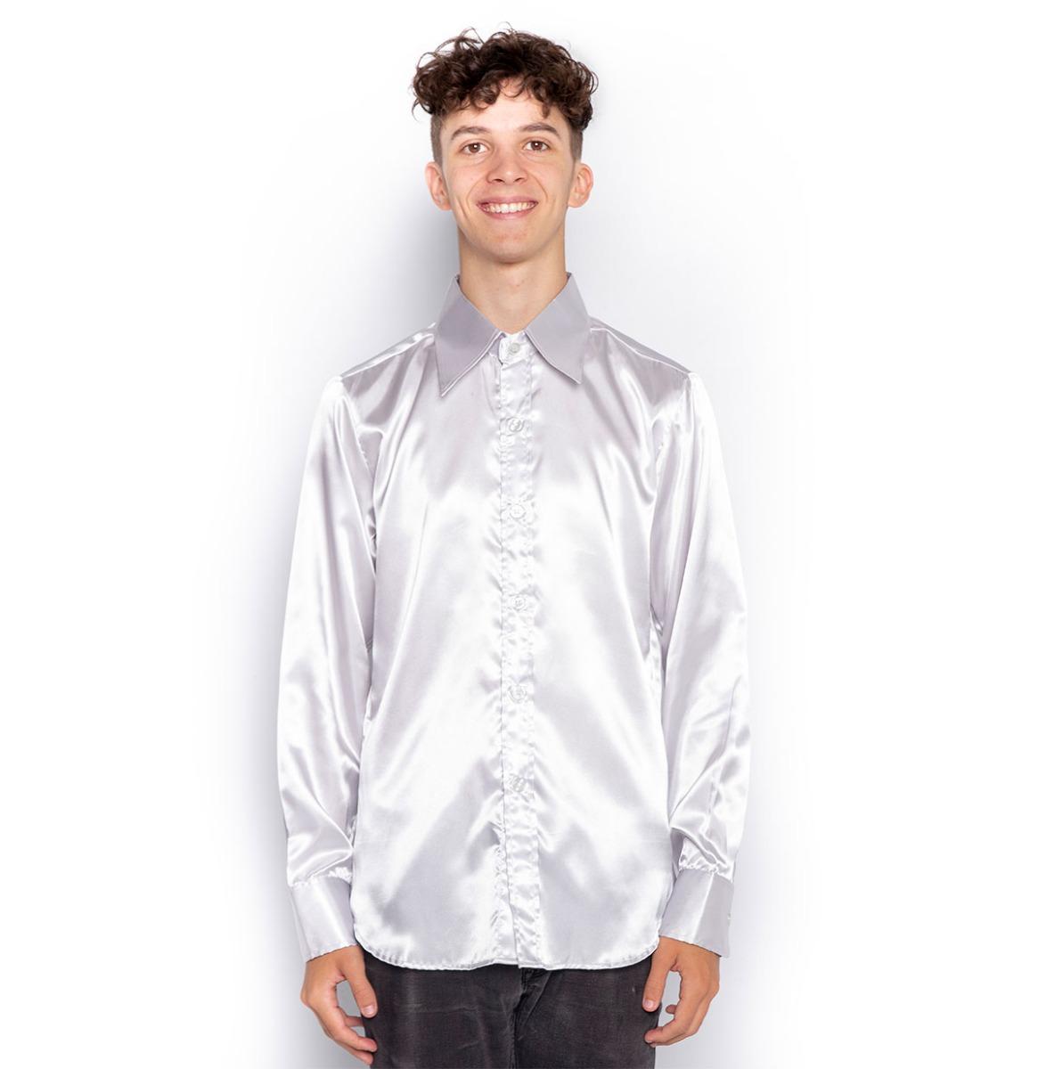 Ex Verhuur Zilver Shirt - S