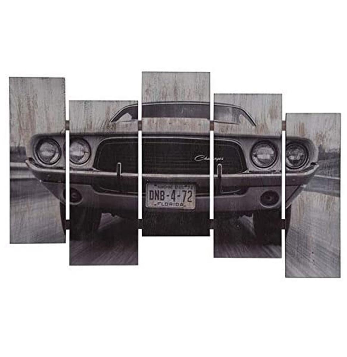 Dodge Challenger Slat Houten Muur Decoratie