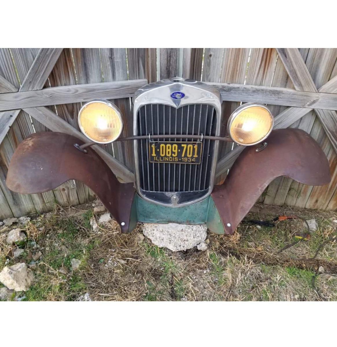 Ford Model A Grill En Zijbumpers - Origineel (5)