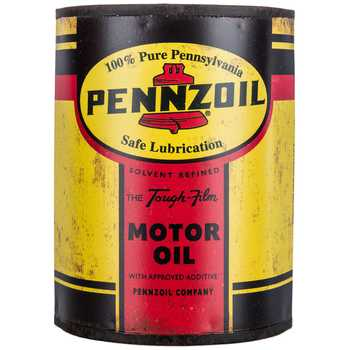 Pennzoil Metal Half Oil Can Wall Decor