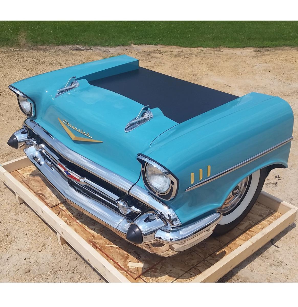 1957 Chevrolet Bel-Air Bureau Turquoise - Gemaakt Van Een Echte Auto