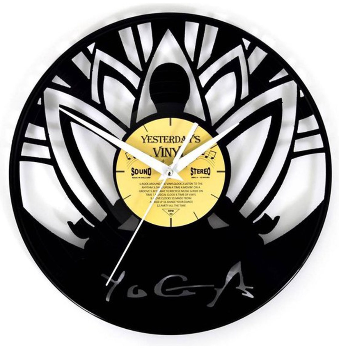 Vinyl Klok Yoga - Gemaakt Van Een Gerecyclede Plaat