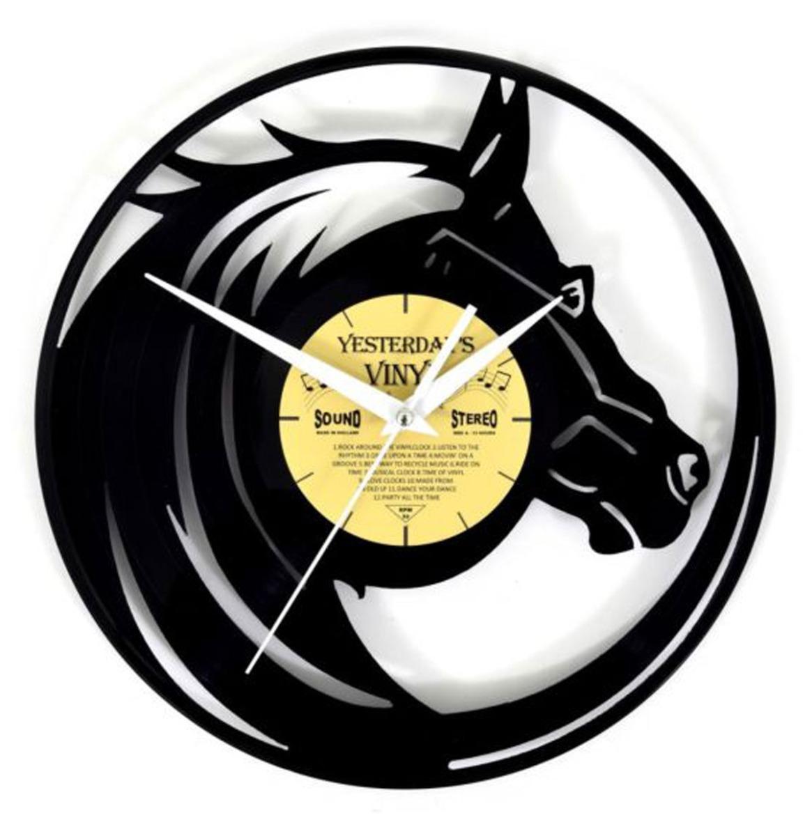 Vinyl Klok Paard - Gemaakt Van Een Gerecyclede Plaat