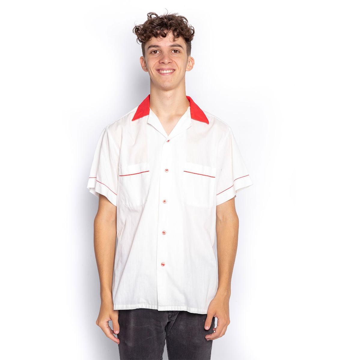 Ex Verhuur Bowling Shirt Bennies Fifties Geen Tekst