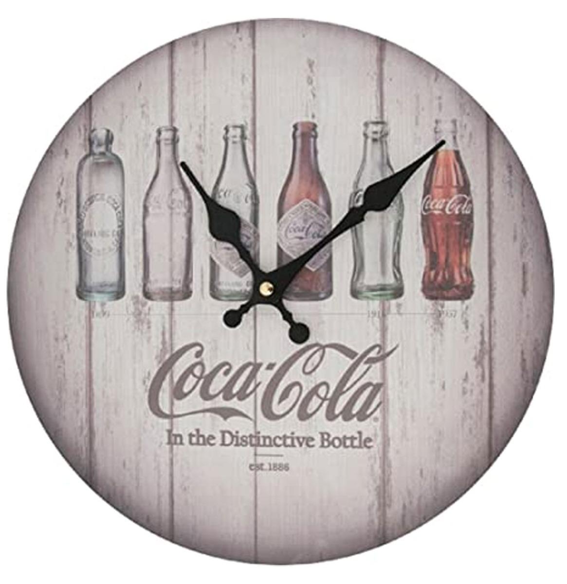 Coca-Cola Bottles Evolution Klok - Hout