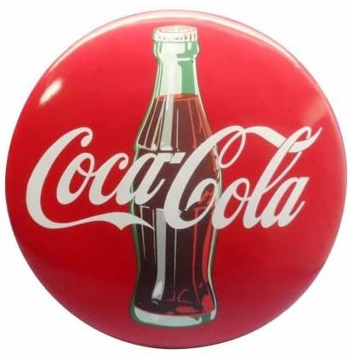 Coca-Cola Hars Contour Fles 3-D Button Bord