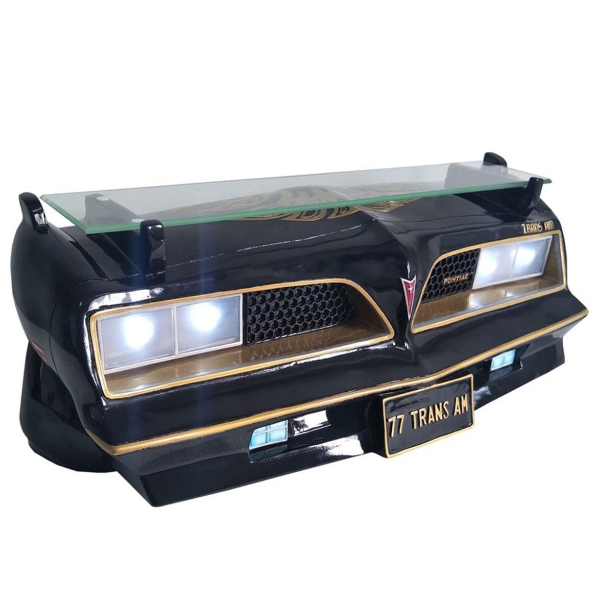 1977 SE Pontiac Trans Am Autoneus Als Muurplank Zwart/Goud