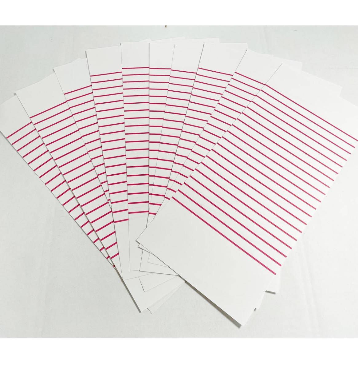 Titelstrips Wit/Rood 78 Toeren - Set Van 10 Vellen - 360 Strips Totaal
