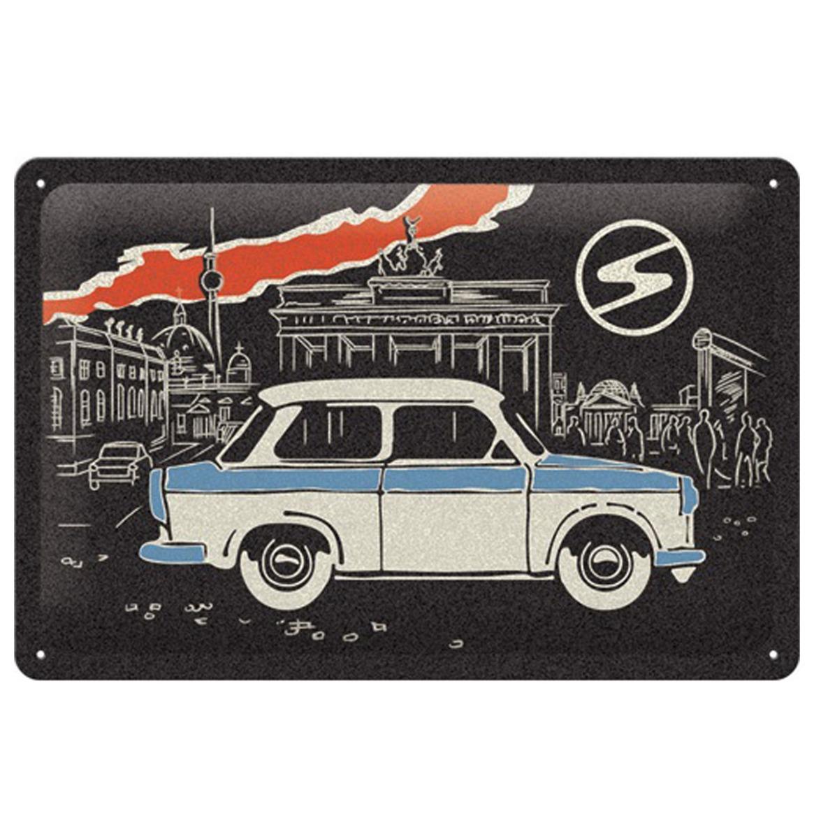 Tin Signs 20 x 30 cm Trabant - Berlin Black