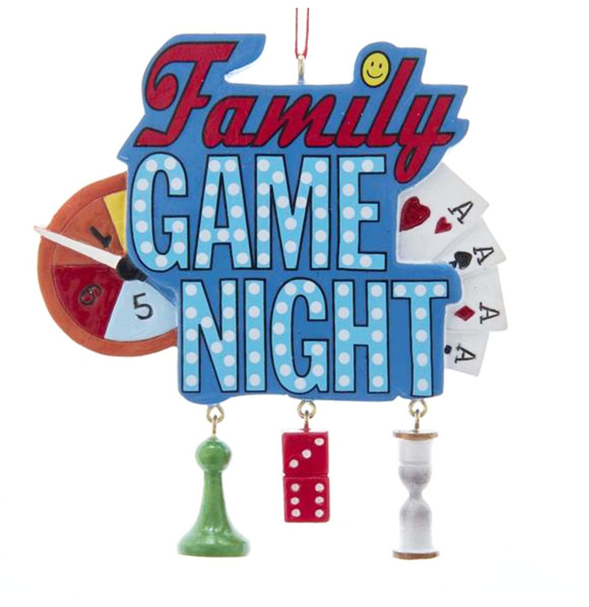 Family Game Night Kerst Ornament