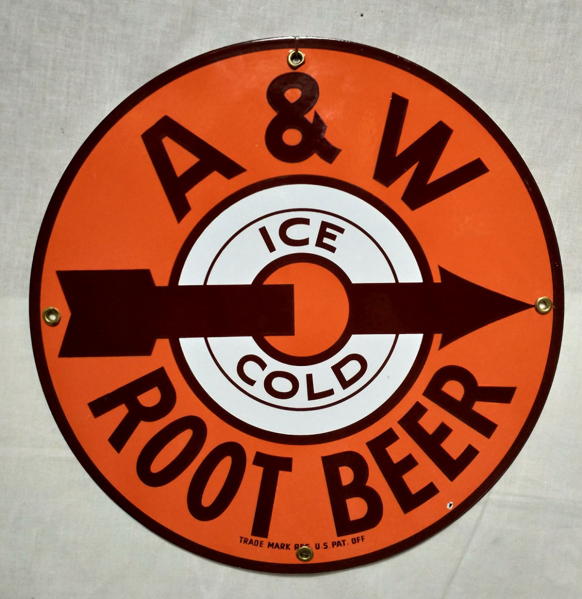 A&W Root Beer Emaille Bord