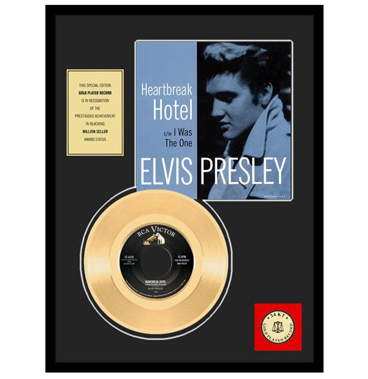 Elvis Presley - Heartbreak Hotel Gouden Plaat (45RPM)