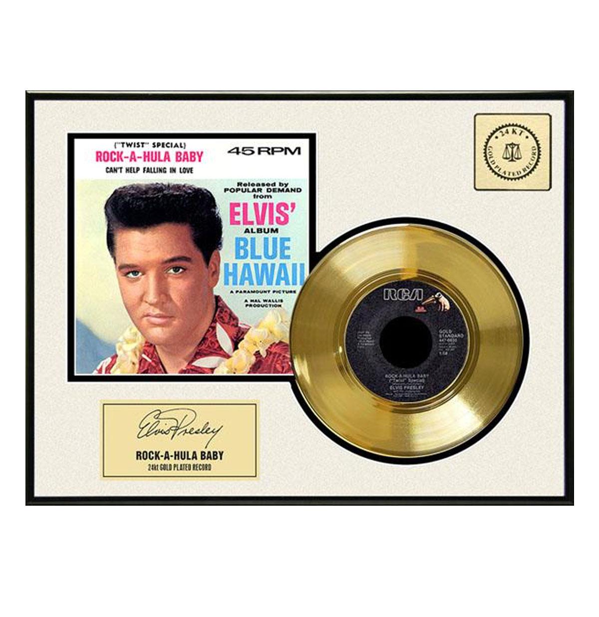 Elvis Presley - Rock-A-Hula Baby Gouden Plaat (45RPM)